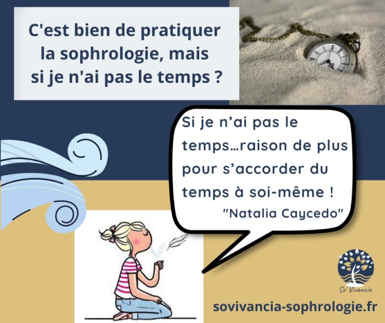 Read more about the article Si je n'ai pas le temps…